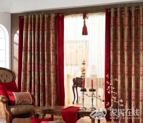 红木窗帘效果图大全