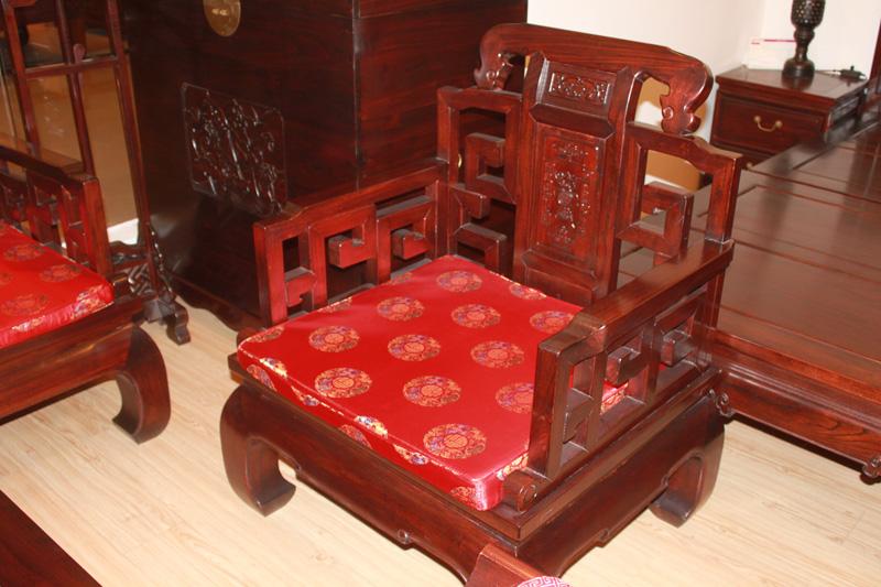 龙顺海古典家具 拐子寿沙发图片