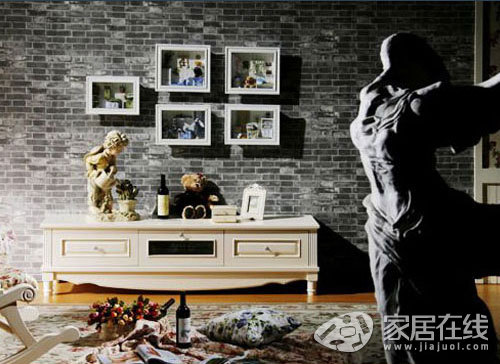 欧式简约风格电视柜 打造朴素大气客厅(图)