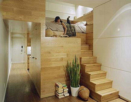 想要卧室,客厅,厨房,卫生间一应俱全似乎很有难度,但是设计师的创意真图片