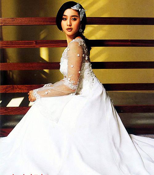 众多美女明星婚纱照写真 看看谁是最惊艳新娘