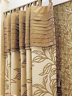 6,花边与束带的和谐式搭配    欧式窗帘图片:这种花边的造型及材质