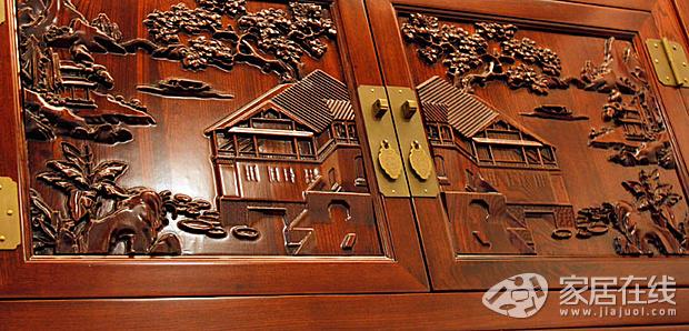 中式古典家具选购 老榆木上的雕刻艺术