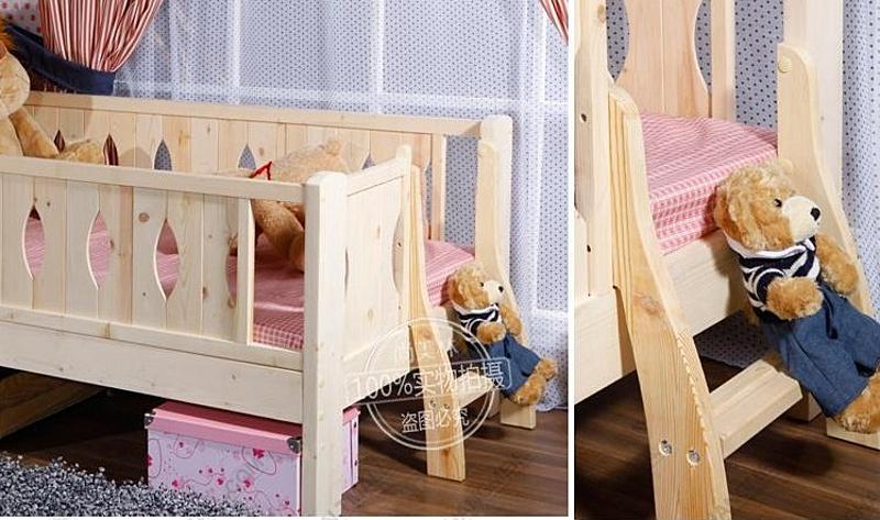 儿童床 在线 实木 婴儿床 松木 宜家/【婴儿床】实木无漆 宜家松木儿童床