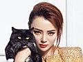 气质女神苏红贵妇写真 怀抱黑猫冷艳