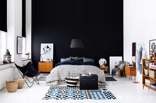 极简卧室黑色边框极简工业风卧室图片7