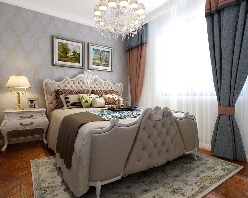 木质与壁纸结合打造清新的简欧风格图片