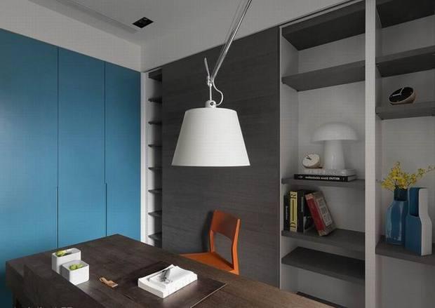 文艺的空间背景_简约风格灰色系空间文艺范儿十足的住宅_装修效果图-家居在线