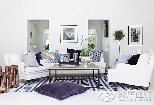 纯白色的美丽家居装修 让夏季更加清凉