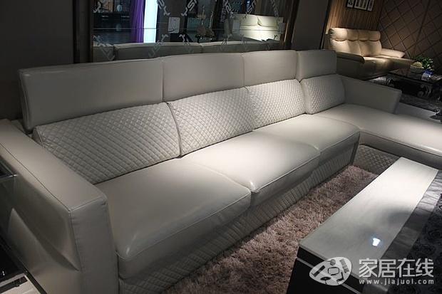 依思蒙沙纯牛皮沙发 简约中的高端舒适
