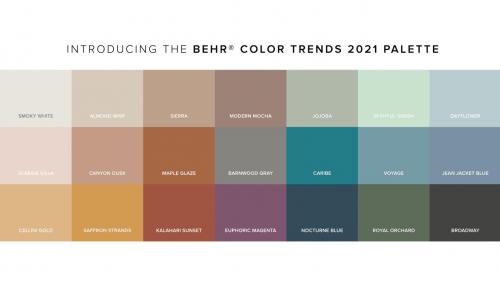 BEHR百色熊21款流行色发布,分分钟提升家居空间舒适度