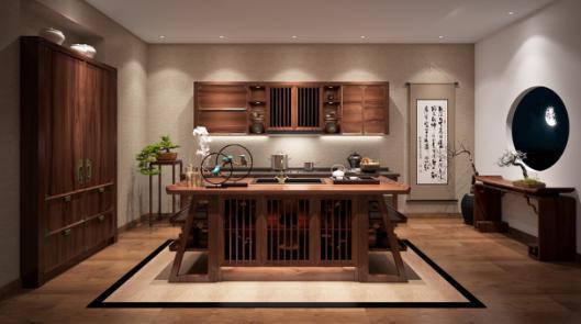 家居刮中国风 红棉奖箭牌橱柜汉阙装点厨房