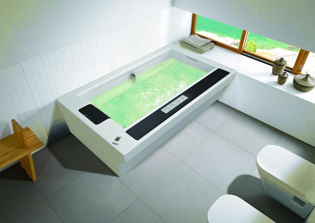乐家IN-FLOW茵芙乐浴缸:独特的一体式按摩浴缸