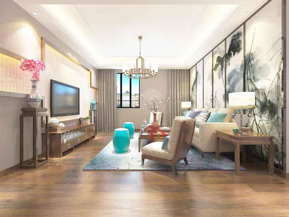 中式风格装修客厅装修效果图