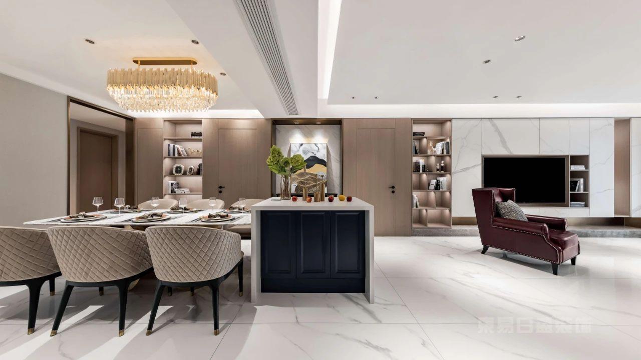 现代轻奢风格客餐厅