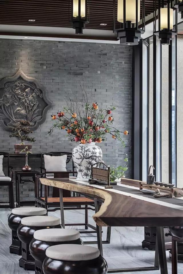 桂林客厅兼茶室设计