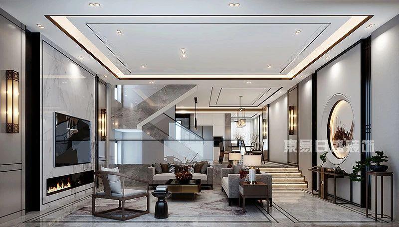 新中式度假别墅客厅装修