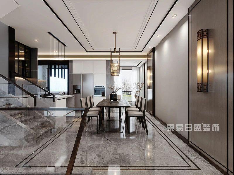 新中式别墅餐厅装修案例