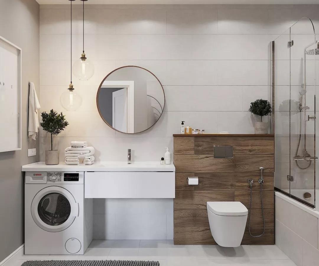 卫生间存放洗衣机