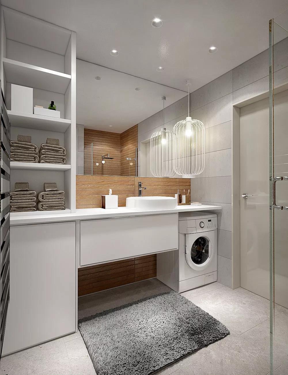 洗漱台嵌入洗衣机