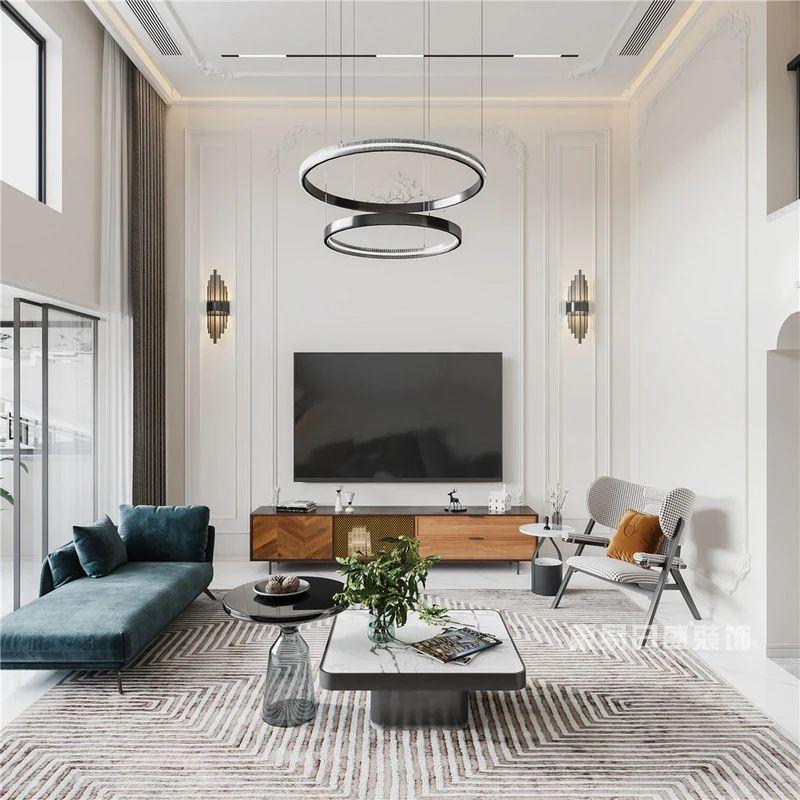 现代法式混搭风格客厅