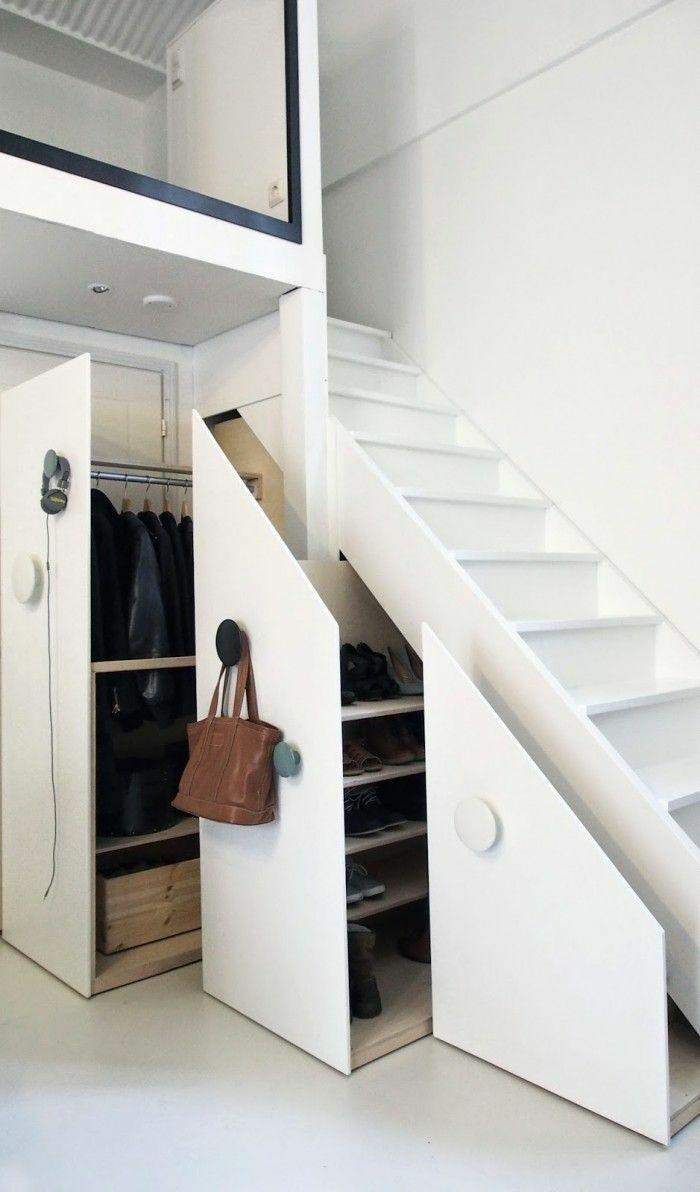 楼梯小型衣帽间