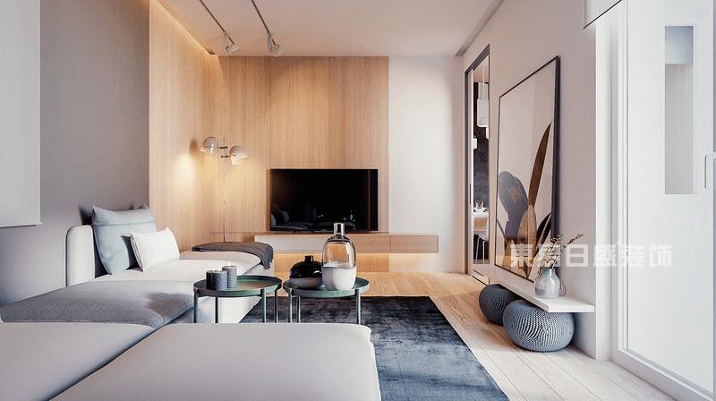 现代简约风格客厅实景图