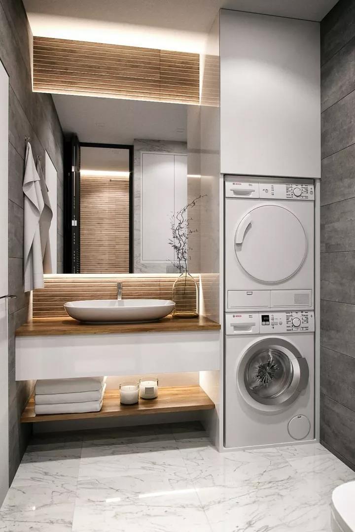 收纳柜嵌入洗衣机