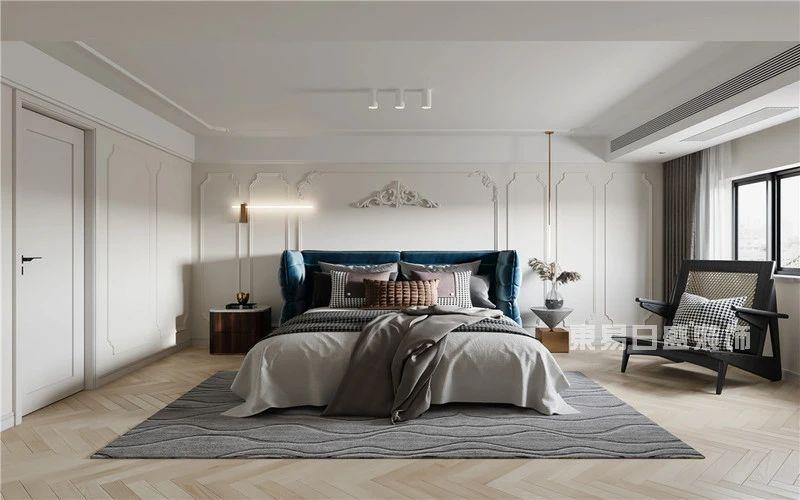 现代法式混搭风格卧室