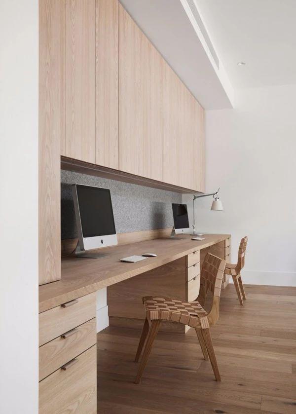 收纳柜和书桌组合图片