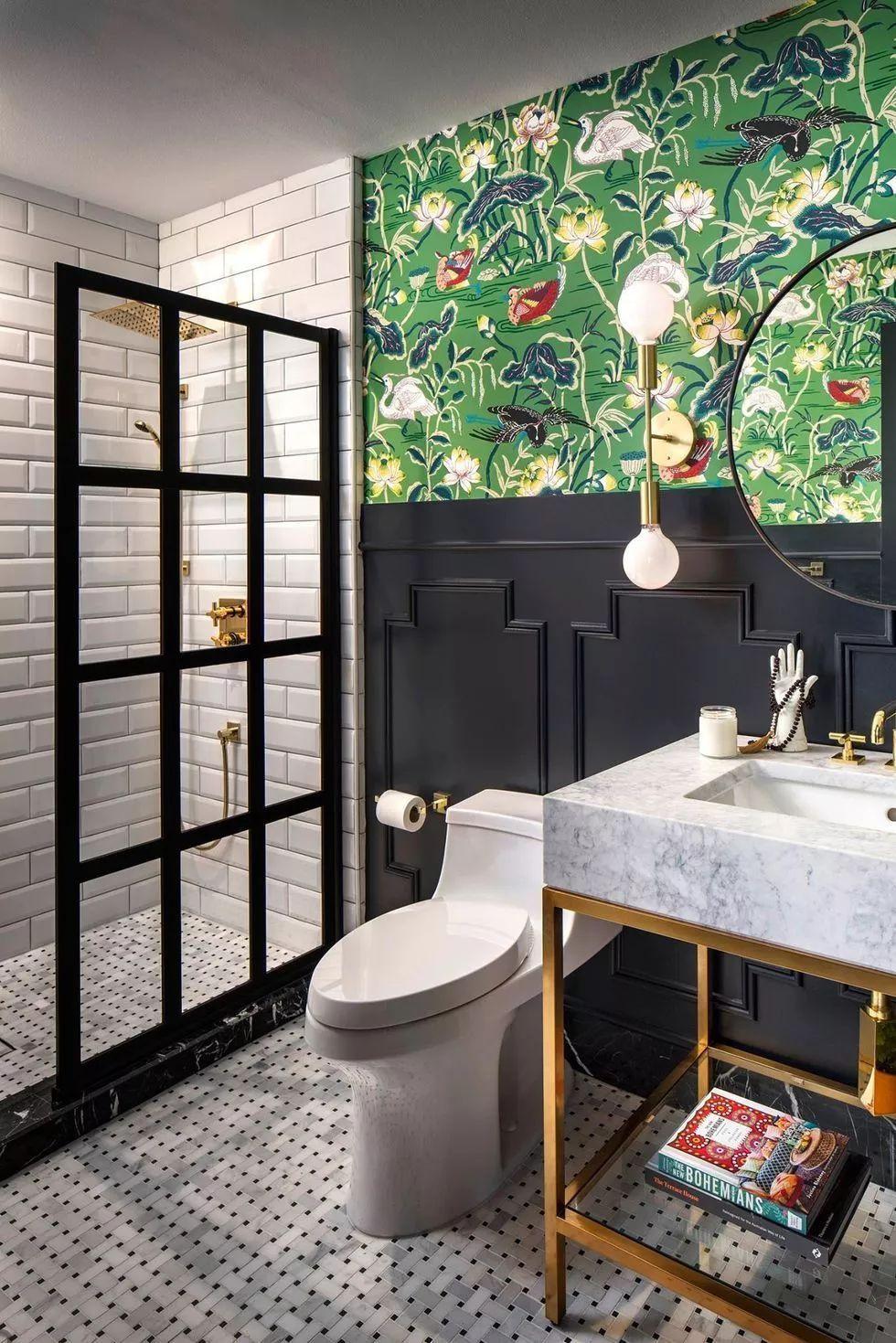 花卉元素步入式淋浴间