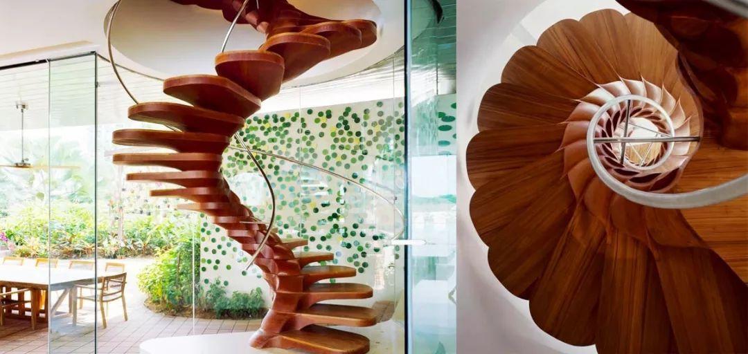 花瓣旋转楼梯设计
