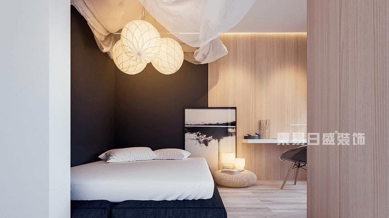 现代简约风格卧室实景图