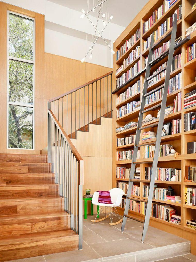 楼梯嵌入式书架