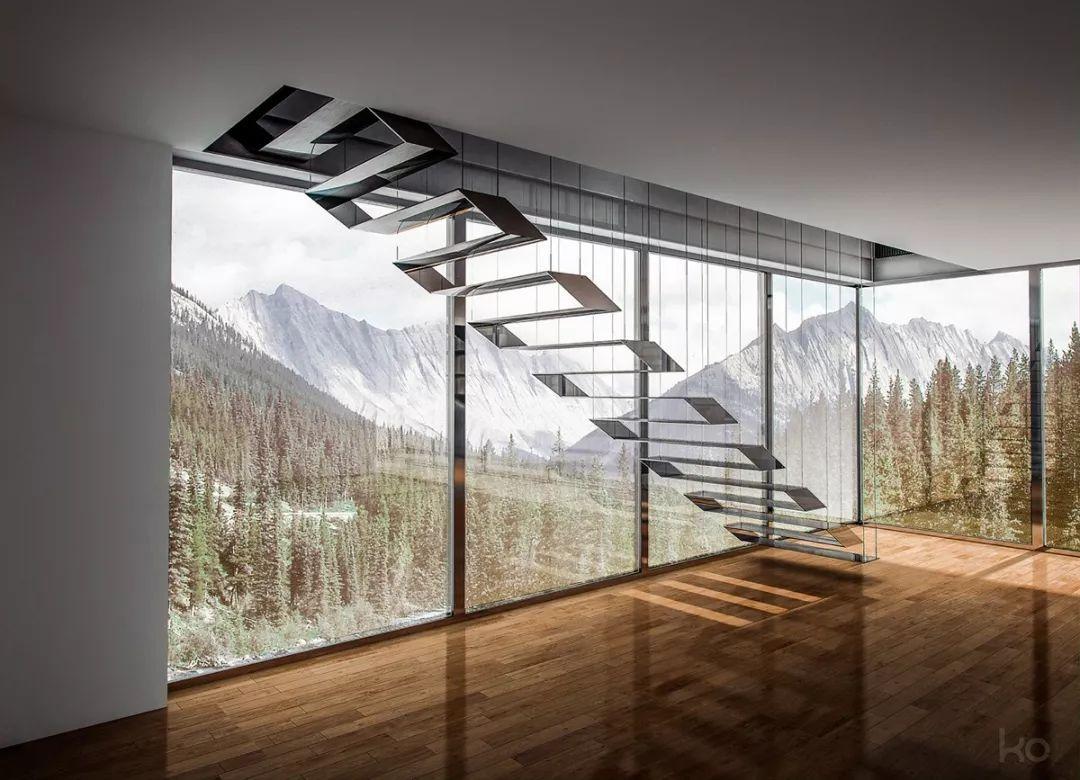 镂空台阶楼梯设计