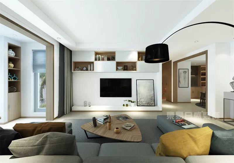 简约风格客厅电视墙