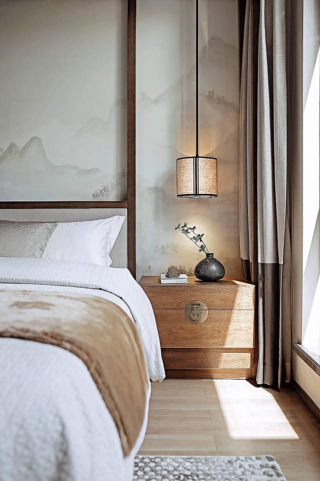 新中式卧室基调