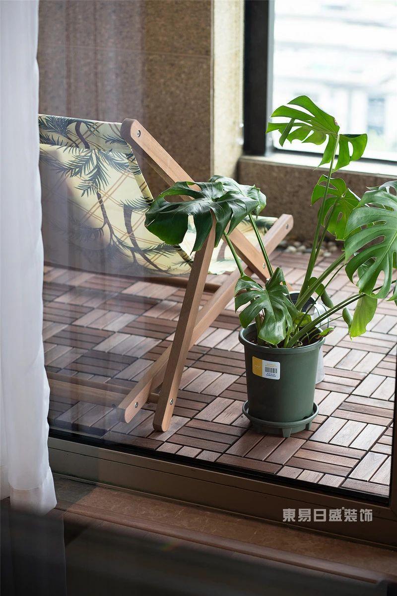 现代自然风阳台实拍