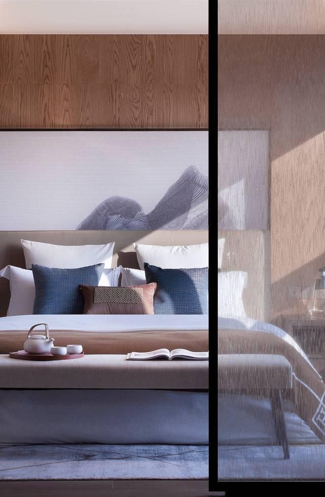 新中式卧室造型
