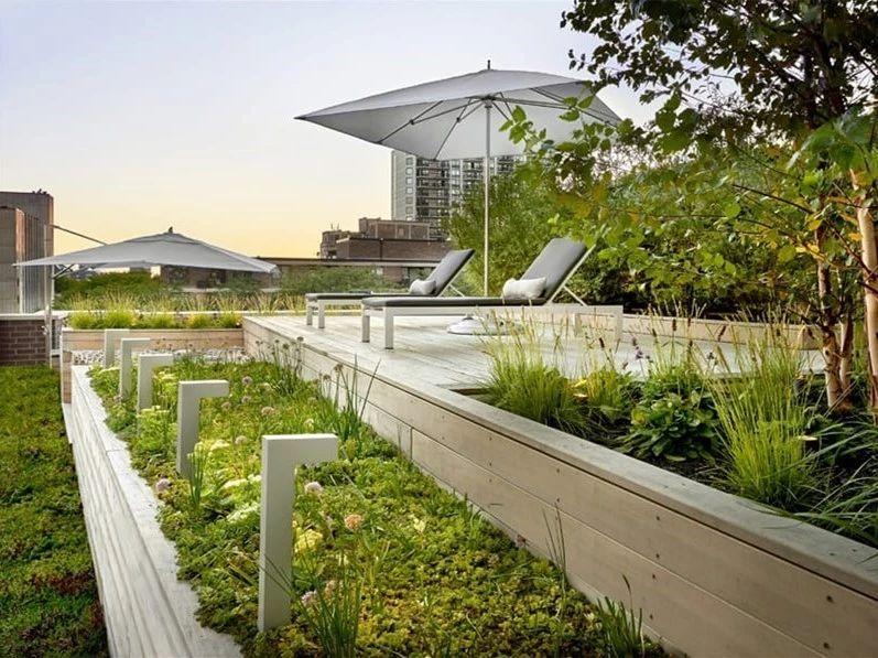 屋顶花园种植层