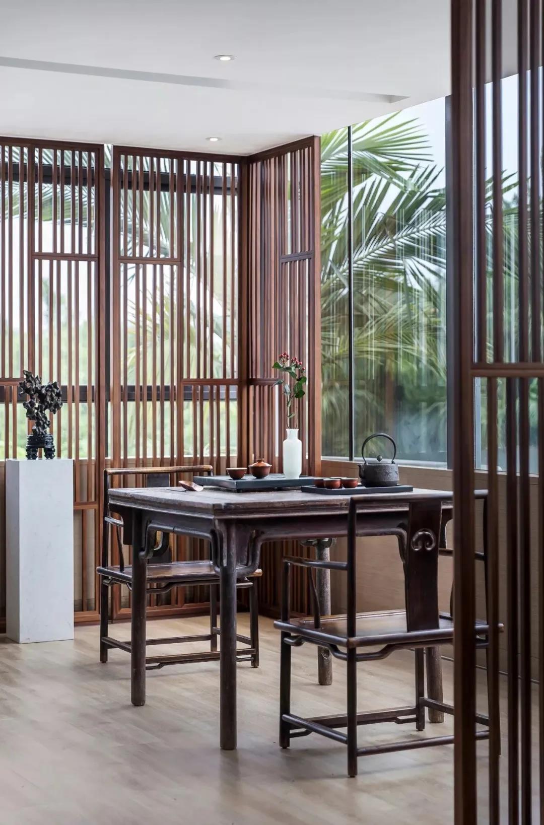 窗边茶室设计