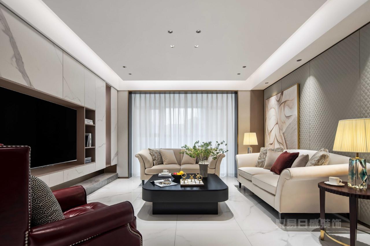 现代轻奢装修风格客厅
